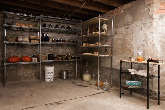 basement cheese cave, wine cellar, and root cellar all-in-one