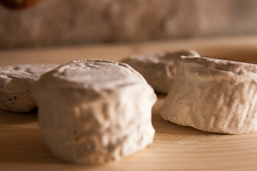 Triple Creme, ash covered cheese ripening