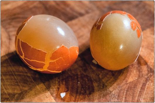Pickled Salt Cured Naked Eggs