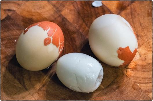 Steamed Salt Cured Naked Eggs