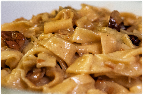 Black Walnuts and Cream on Pasta