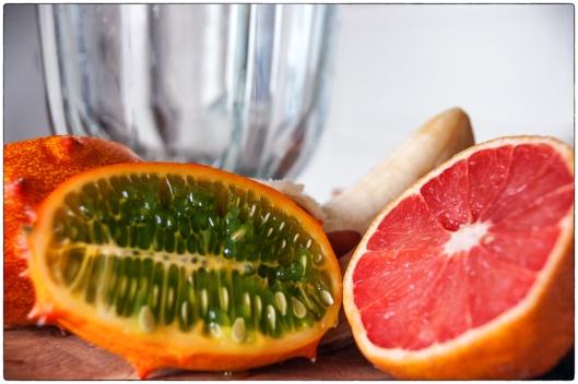 Horned Melon and Grapefruit